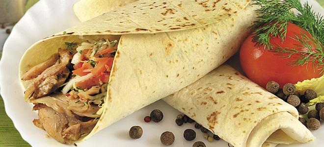 Шаурма – интересные рецепты приготовления закуски в домашних условиях